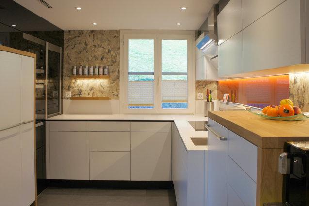 Küche Weiss Mit Eiche Möbel Abächerli