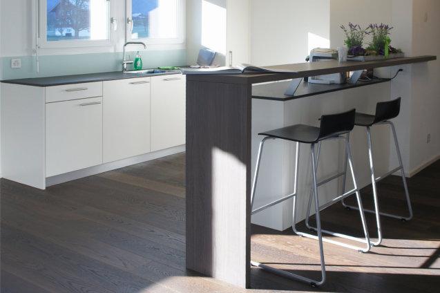 Küche Weiss Mit Bar | Möbel Abächerli